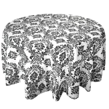 Damask Round Tablecloth